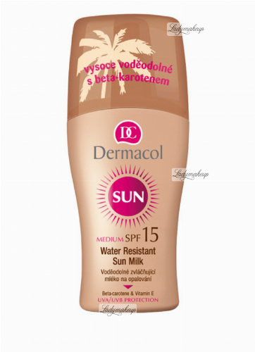 Dermacol - Water Resistant Sun Milk Spray - SPF 15 - Wodoodporne mleczko do ciała z filtrem SPF 15