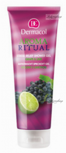 Dermacol - AROMA RITUAL - STRESS RELIEF SHOWER GEL - GRAPE & LIME - Żel pod prysznic o zapachu winogron i limonki
