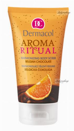 Dermacol - AROMA RITUAL - HARMONIZING BODY SCRUB - BELGIAN CHOCOLATE - Kremowy peeling do ciała o zapachu belgijskiej czekolady i pomarańczy
