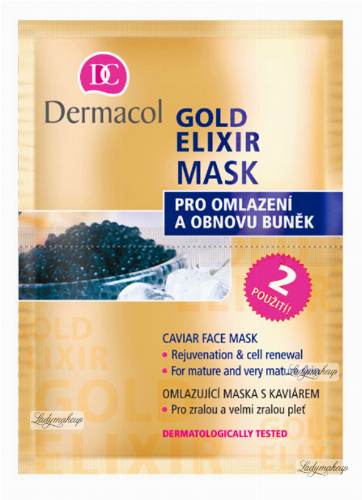 Dermacol - Gold Elixir Caviar Face Mask - A rejuvenating caviar face mask