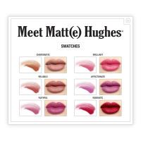 The Balm - Meet Matt(e) Hughes - 6 Mini Long-Lasting Liquid Lipsticks - Zestaw 6 mini matowych pomadek w płynie - EXCLUSIVE NEW SHADES
