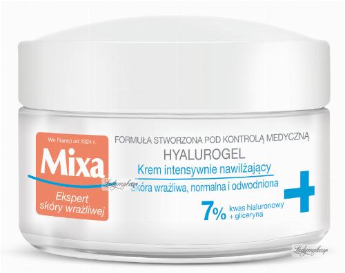 Mixa - HYALUROGEL - Krem intensywnie nawilżający do skóry wrażliwej, normalnej i odwodnionej