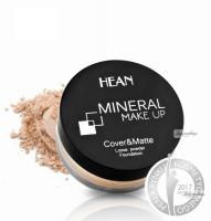 HEAN - MINERAL MAKE UP - Cover&Matte Loose Powder Foundation - Mineralny sypki podkład kryjąco-matujący - 902 - BEIGE - 902 - BEIGE