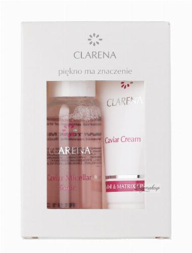 Clarena - Caviar Micellar Tonic + Cream - CAVIAR & MATRIX MIN SET - Mini zestaw do pielęgnacji twarzy - 0048