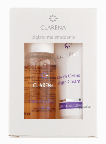 Clarena - Cetrus Collagen Lotion + Cream - LIPOSOM CERTUS COLLAGEN MINI SET - Mini zestaw do pielęgnacji twarzy - 0068