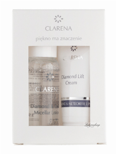 Clarena - Diamond & Caviar Micellar Lotion + Diamond Lift Cream - DIAMOND & METEORITE MINI SET - Mini zestaw do pielęgnacji twarzy - 0438