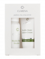 Clarena - Tricelles Toner Emulsion + Tricelles Atopic Solution Cream - ATOPIC MIN SET - Mini zestaw do pielęgnacji twarzy - 0067