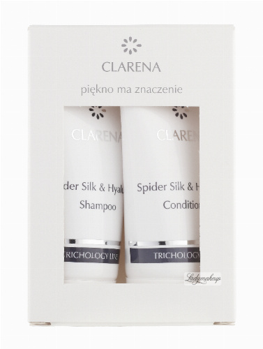 Clarena - Spider Silk & Hyaluron Shampoo + Conditioner - TRICHOLOGY MINI SET - Mini zestaw do pielęgnacji włosów - 0372