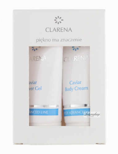 Clarena - Caviar Body Cream + Shower Gel - BODY ADVANCED MIN SET - Mini zestaw do pielęgnacji ciała - 0078