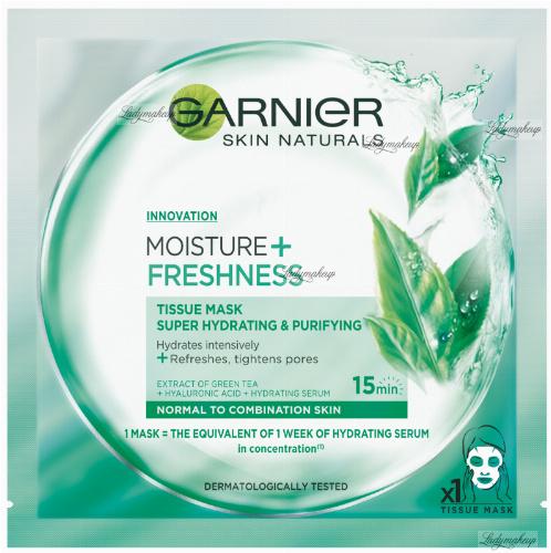 GARNIER - MOISTURE + FRESHNESS - TISSUE MASK SUPER HYDRATING & PURIFYING - Maska kompres super nawilżenie i oczyszczenie