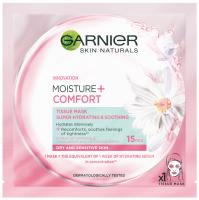 GARNIER - MOISTURE + COMFORT - TISSUE MASK SUPER HYDRATING & SOOTHING - Maska kompres super nawilżenie i ukojenie