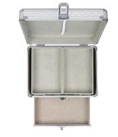 Inter-Vion - Kufer kosmetyczny - SREBRNY - 499244