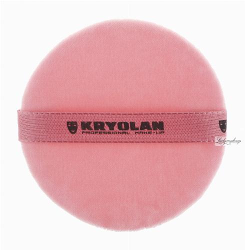 KRYOLAN - Premium Powder Puff Pink - Różowy puszek do pudru - 10 cm - ART. 1720