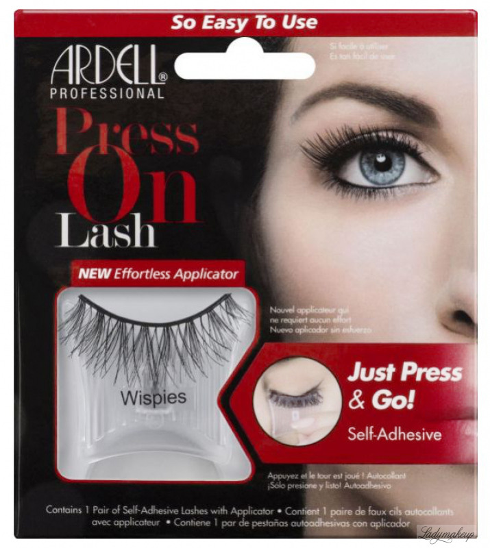 2137f58c507 ARDELL - Press On Lashes - False eyelashes with applicator strip and  adhesive