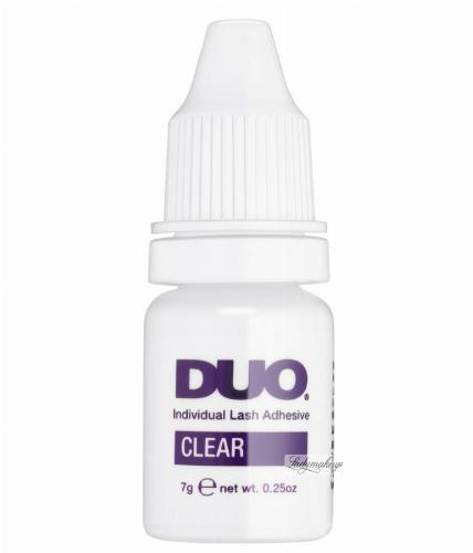 DUO - Individual Lash Adhesive Clear - Przezroczysty klej do rzęs w kępkach
