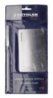 KRYOLAN - MAKE-UP MIXING SPATULA & BLENDING PLATE - Zestaw do mieszania komponentów (metalowa paleta i szpatułka) - ART. 7882