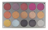 Glazel - Palette of 15 metallic eyeshadows