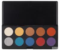 Make-Up Atelier Paris - CRAYON EYESHADOW PALETTE - Paleta prasowanych 10 cieni do powiek - Cienie Pastelowe A