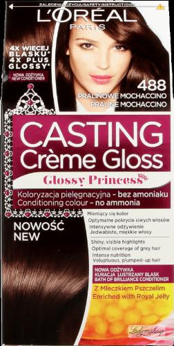 L'Oréal - Casting Créme Gloss  - Pielęgnacyjna koloryzacja bez amoniaku - 488 PRALINOWE MOCHACCINO