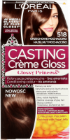 L'Oréal - Casting Créme Gloss - Nourishing without ammonia - 518 HAZELNUT MOCHACCINO