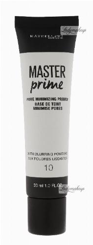 MAYBELLINE - Master Prime - PORE MINIMIZING PRIMER - Baza pod makijaż minimalizująca widoczność porów - 10