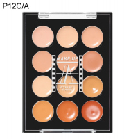 Make-Up Atelier Paris - PALETTE 12 CREAM CONCEALERS - Paleta 12 kremowych korektorów - P12C/A