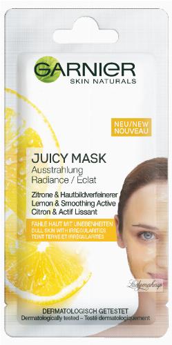GARNIER - Skin Active - JUICY PEEL MASK - Dodająca blasku maseczka z ekstraktem z cytryny do skóry matowej z nieregularnościami