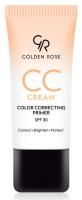 Golden Rose - CC Cream - COLOR CORRECTING PRIMER - Krem CC - Baza pod makijaż korygująca koloryt - POMARAŃCZOWA