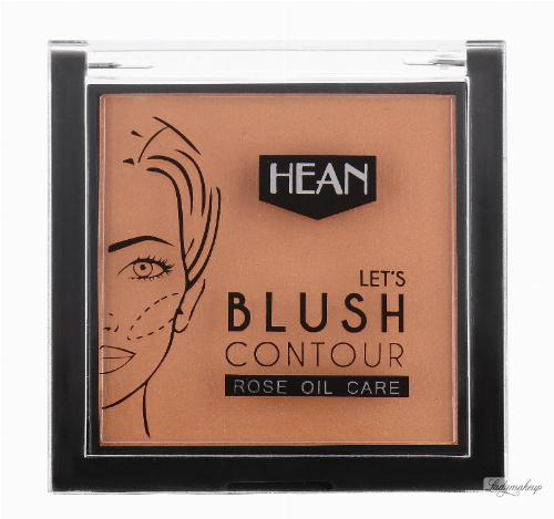 HEAN - LET'S BLUSH CONTOUR - ROSE OIL CARE - Róż do konturowania twarzy z olejkiem z dzikiej róży
