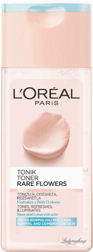 L'Oréal - RARE FLOWERS TONER - Tonik do skóry normalnej i mieszanej
