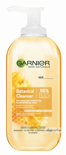 GARNIER - Botanical Cleanser - Flower Honey - Przywracający komfort żel do skóry suchej i bardzo suchej