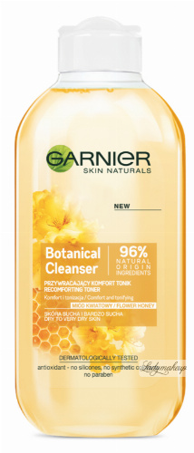 GARNIER - Botanical Cleanser - Flower Honey - Przywracający komfort tonik do skóry suchej i bardzo suchej