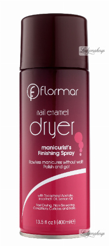 Flormar - Nail Enamel Dryer - Manicure Finishing Spray - Wysuszacz lakieru do paznokci w sprayu - 400 ml