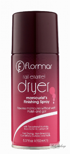 Flormar - Nail Enamel Dryer - Manicure Finishing Spray - Wysuszacz lakieru do paznokci w sprayu - 150ml