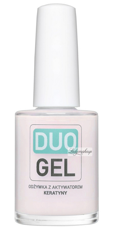 DUO GEL - Pink Nail Conditioner With Keratin Activator - ROSE - 15 ml