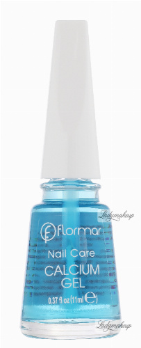 Flormar - Nail Care - CALCIUM GEL - Base Coat - Odżywcza baza z wapniem do kruchych paznokci