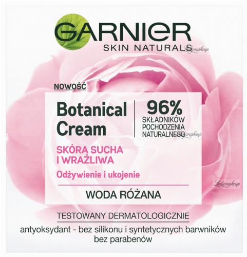 GARNIER - Botanical Cream - Rose Floral Water - Krem nawilżający do skóry suchej i wrażliwej