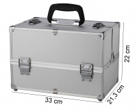 Kufer kosmetyczny - 16BCB049 - SILVER