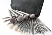 LancrOne - SUNSHADE MINERALS - Zestaw 25 srebrnych pędzli do makijażu + etui