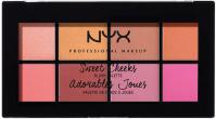 NYX Professional Makeup - Sweet Cheeks Blush Palette - Paleta 8 róży do policzków