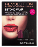 MAKEUP REVOLUTION - BEYOND VAMP - matt lipstick collection - 3 lipsticks