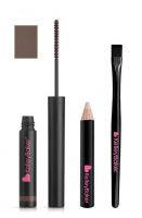 Kelley Baker Brows - TINTED BROW GEL + CAMO-LIGHT HIGHLIGHTER + HIGHLIGHTER SMUDGE BRUSH - BROWN - BROWN