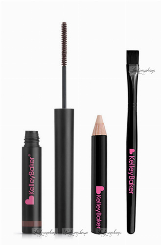 Kelley Baker Brows - TINTED BROW GEL + CAMO-LIGHT HIGHLIGHTER + HIGHLIGHTER SMUDGE BRUSH