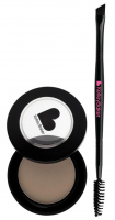 Kelley Baker Brows - BROW POWDER + ANGLE SPOOLY BRUSH - Puder do brwi i dwustronny pędzelek - BROWN - BROWN