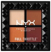 NYX Professional Makeup - FULL THROTTLE SHADOW PALETTE - COLOR RIOT - Paleta 4 cieni do powiek