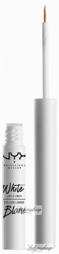 NYX Professional Makeup - WHITE LIQUID LINER - Wodoodporny tusz do kresek - WHITE