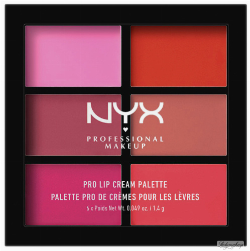 NYX Professional Makeup - PRO LIP CREAM PALETTE - THE PINKS - Paleta pomadek do ust w kremie
