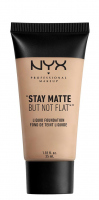 NYX Professional Makeup - STAY MATTE BUT NOT FLAT LIQUID FOUNDATION - Podkład matujący - SMF01.7 - NUDE BEIGE - SMF01.7 - NUDE BEIGE