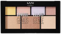 NYX Professional Makeup - STROBE OF GENIUS ILLUMINATING PALETTE - Paleta rozświetlaczy