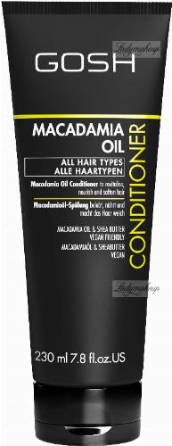 GOSH - MACADAMIA OIL - CONDITIONER - Odżywka do włosów z olejem makadamia